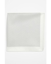 White Polka Dot Pocket Square