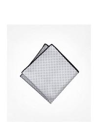 Express Four Way Silk Pocket Square White