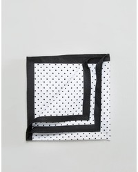 Asos Pocket Square With Polka Dot And Black Boarder