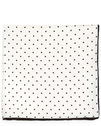 Polka dot silk pocket square whiteblack medium 241549