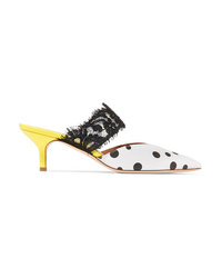 Malone Souliers Maisie 45 Med Polka Dot Faille Mules
