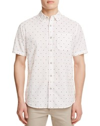 Jachs Ny Dobby Dot Regular Fit Button Down Shirt
