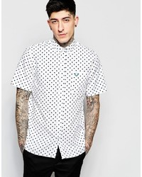 Fred Perry Shirt With Polka Dot Print Short Sleeves In Slim Fit