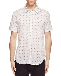 John Varvatos Star Usa Skull Dots Slim Fit Button Down Shirt