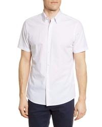 Nordstrom Men's Shop Trim Fit Arrow Print Non Iron Short Sleeve Button Up Shirt