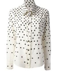 Ann Demeulemeester Blanche Polka Dot Shirt