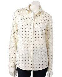 Lauren Conrad Lc Dot Oxford Shirt