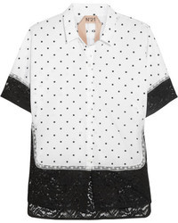 No.21 No 21 Polka Dot Cotton And Lace Shirt