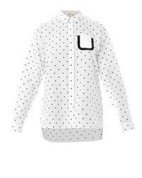 No.21 No 21 Polka Dot Cotton Shirt