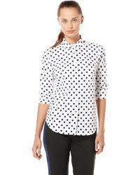 Original Penguin Long Sleeve Polka Dot Woven Shirt