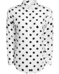 Equipment Polka Dot Silk Signature Shirt