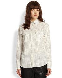Rag and Bone Rag Bone Anaheim Polka Dot Cotton Shirt