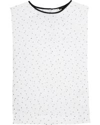 Polka dot print chiffon top medium 3649603