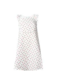 White Polka Dot Swing Dress