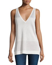Rag & Bone Dotted Sweater Knit Tank Ivory