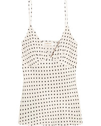 Zimmermann Polka Dot Satin Camisole White