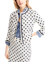 J.Crew Polka Dot Textured Tweed Jacket