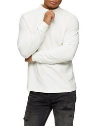 Topman Long Sleeve Pique Zip Polo