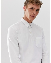 Selected Homme Long Sleeve Polo Shirt With Chest Pocket