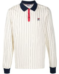 Fila Long Sleeved Pinstripe Polo Shirt