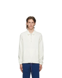 Ps By Paul Smith Off White Half Zip Sweater