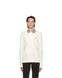 Lacoste Off White Heritage Long Sleeve Polo