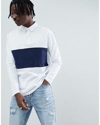 ASOS DESIGN Relaxed Fit Rugby Polo With Long Sleeves And
