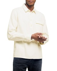Topman Slim Fit Flannel Popover Shirt