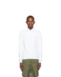 Valentino White Crepe Long Sleeve Polo