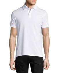 Ralph Lauren Front Zip Piqu Polo Shirt White