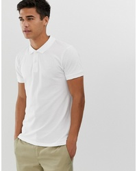 Esprit Organic Polo Shirt In White