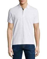Burberry Short Sleeve Oxford Polo Shirt White