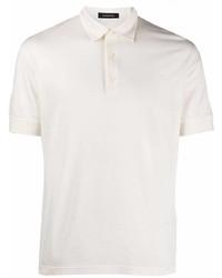 Ermenegildo Zegna Short Sleeved Cotton Polo Shirt