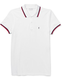 Saint Laurent Slim Fit Contrast Tipped Cotton Piqu Polo Shirt