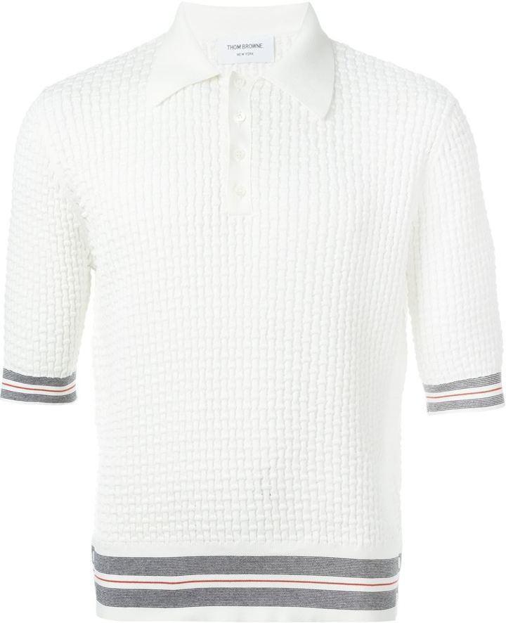 7a8813b78a9 Thom Browne Knitted Polo Shirt, $994 | farfetch.com | Lookastic.com