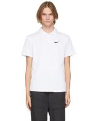 Nike White Black Court Dri Fit Adv Slam Polo