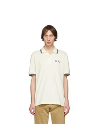 Comme des Garcons Homme Deux White Fred Perry Edition Pique Polo