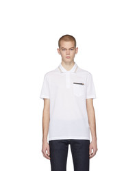 Versace White Greek Key Polo