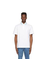 Lanvin White Gros Collar Polo
