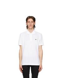 Lacoste White L1212 Polo