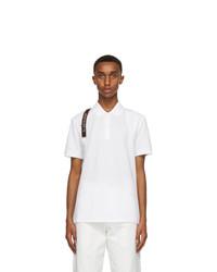 Alexander McQueen White Logo Harness Polo