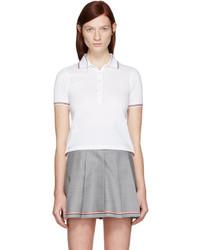 White short sleeve polo medium 1151693
