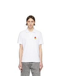 AMI Alexandre Mattiussi White Smiley Polo
