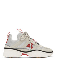 Isabel Marant Off White And Red Kindsay Sneakers