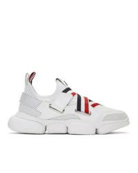 Moncler White Bakary Sneakers