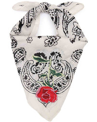 Jessica Simpson Embroidered Bandana  White
