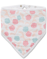Aden Anais White Coral Global Garden Tea Collection Bandana Bib