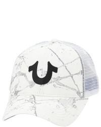 White Print Baseball Cap