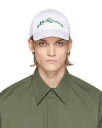 Alexander McQueen White Green Logo Cap