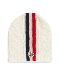 Moncler Logo Patch Cable Beanie